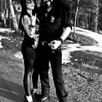 Kat & Lemmy pozing.